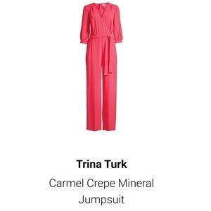 Trina Turk Carmel Crepe Mineral Jumpsuit